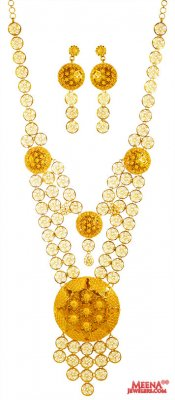 22k Yellow Gold  Necklace Set ( 22 Kt Gold Sets )