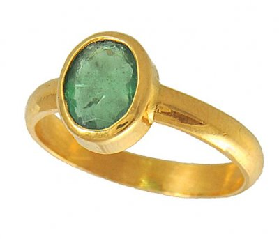 22kt Birthstone Ring (Emerald) ( Astrological BirthStone Rings )