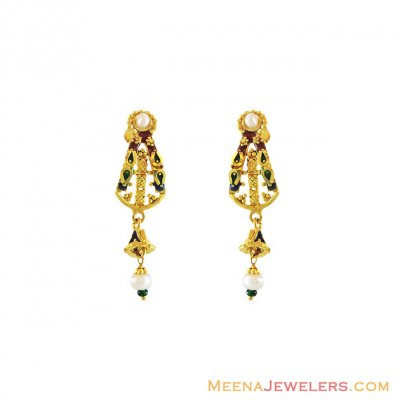 22k Gold Traditional Earrings  ( 22Kt Gold Fancy Earrings )