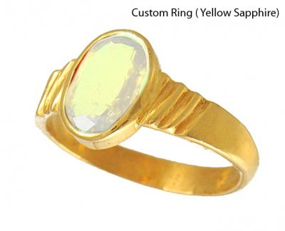 22kt Yellow Sapphire Ring (Custom) ( Astrological BirthStone Rings )