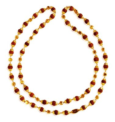 22Karat Gold Rudraksh Mala 25In ( Men`s Gold Chains )