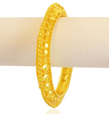 22K Gold Fancy Cutwork Kada ( Kadas )