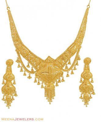 22Kt Gold Necklace Set ( 22 Kt Gold Sets )