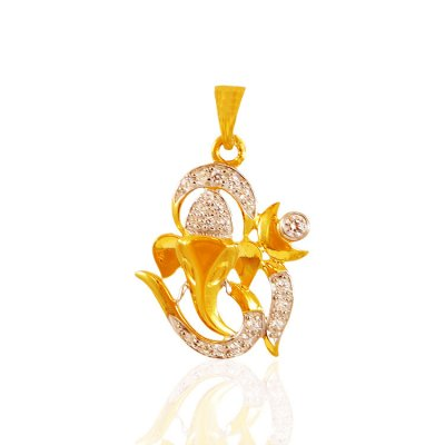 22k Gold Om Vinayak Pendant ( Ganesh, Laxmi and other God Pendants )