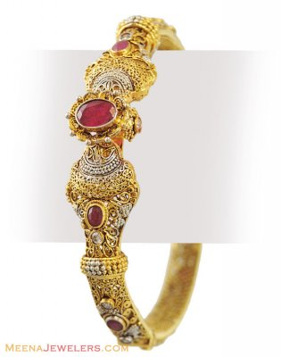 22k Antique Two Tone kada (1 Pc) ( Antique Bangles )