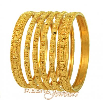 22Kt Gold Bangles Set ( Set of Bangles )