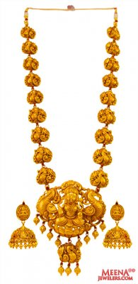 22K Gold Temple Necklace Set (without Earr) ( Antique Necklace Sets )