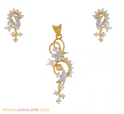22Kt Gold Signity Pendant Set ( Fancy Pendant Set )