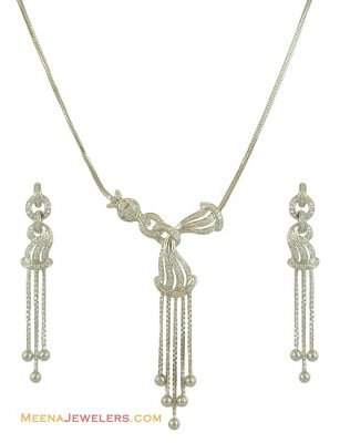 Exclusive White Gold Necklace Set ( White Gold Sets )