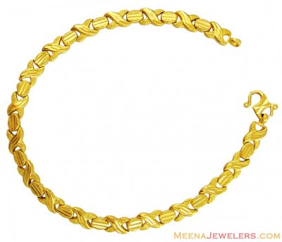 22K Fancy Gold Ladies Bracelet  ( Ladies Bracelets )