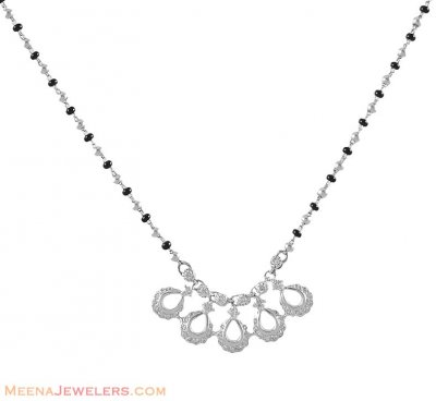 White Gold Mangalsutra ( Diamond MangalSutras )
