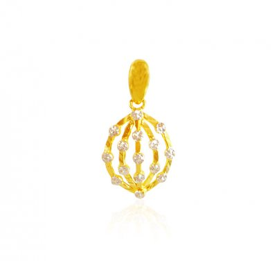 22 Kt Gold Two Tone Pendant ( Fancy Pendants )