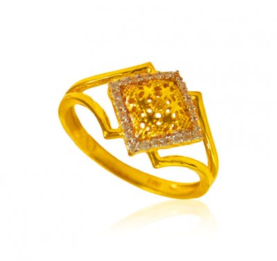 22K Gold Fancy Ring ( Ladies Signity Rings )