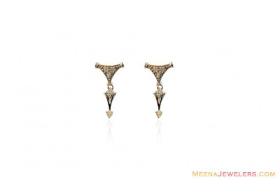 18Kt White Gold Beautiful  Earring ( White Gold Earrings )