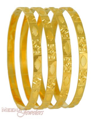 22Kt Gold Bangles (2 Pcs) ( Set of Bangles )
