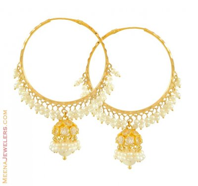 22Kt Gold Jhumkas (Hoops) ( Hoop Earrings )