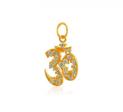 Om Pendant In 22K Gold ( Om Pendants )