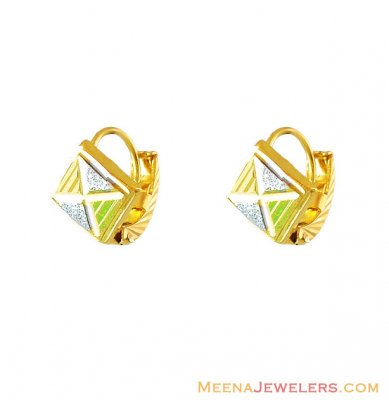 22K Fancy Gold ClipOn Earrings ( Clip On Earrings )
