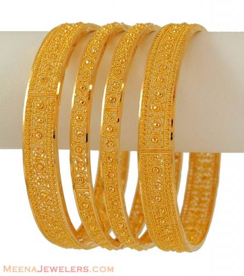 22Kt Gold Bangles ( Set of Bangles )