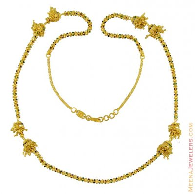 Indian Gold Chain (28 inches) ( 22Kt Long Chains (Ladies) )
