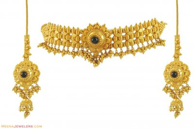 Choker Necklace Set (22Kt) ( 22 Kt Gold Sets )