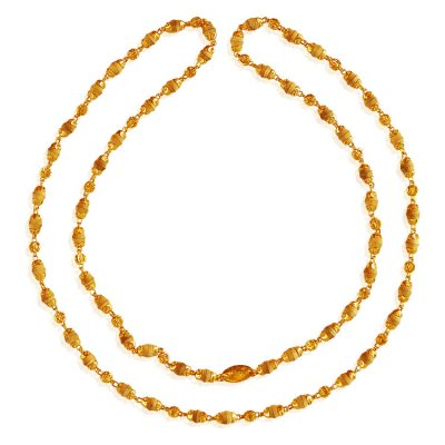 22Kt Gold White Tulsi Mala ( 22Kt Long Chains (Ladies) )