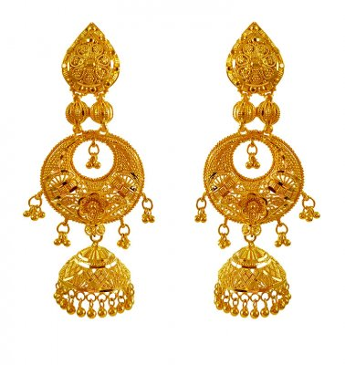 22Karat Gold Long earring ( Long Earrings )