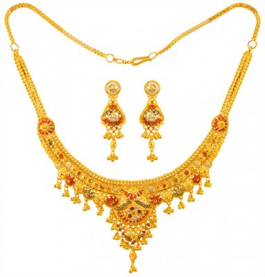 22K Gold Three Tone Set ( 22 Kt Gold Sets )