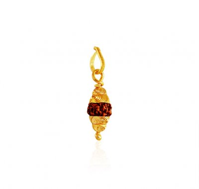 22k Gold Pendant with Rudraksh ( Ganesh, Laxmi and other God Pendants )