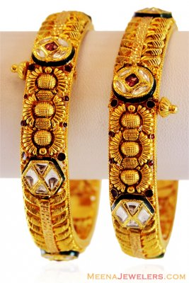 22K Gold Exclusive Bangle ( Antique Bangles )
