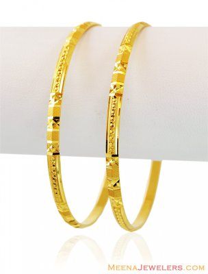 Exclusive 22K Gold Bangles (2 Pc) ( Gold Bangles )