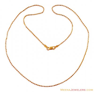 Fancy 22K Gold Beads Chain ( 22Kt Gold Fancy Chains )