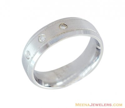 18K Diamond Band (Mens) ( Diamond Rings )