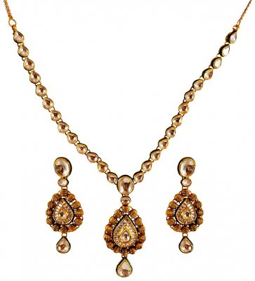 22K Gold Antique Necklace Set ( Antique Necklace Sets )