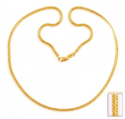 22k Flat Gold Chain (20 Inches) ( Men`s Gold Chains )