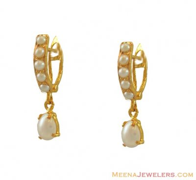 22K Clipons with Pearls ( Signity Earrings )