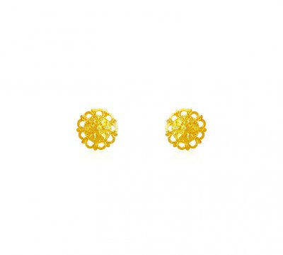 22k Fancy Round Gold Tops ( 22 Kt Gold Tops )