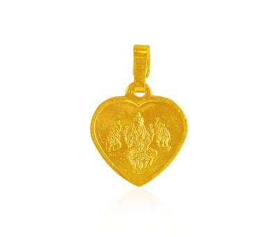 22k Religious reversible pendant ( Ganesh, Laxmi and other God Pendants )