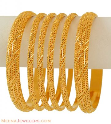 Gold Bangles Set (22k) ( Set of Bangles )