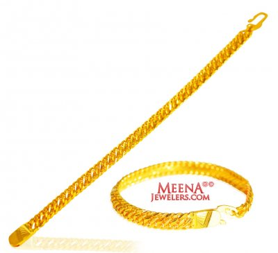 22kt Gold Mens Bracelet  ( Men`s Bracelets )
