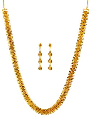 22 Karat Gold Ginni Necklace Set ( 22 Kt Gold Sets )