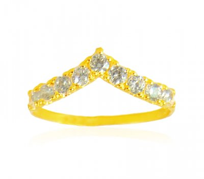 22Kt Gold CZ Ring ( Ladies Signity Rings )