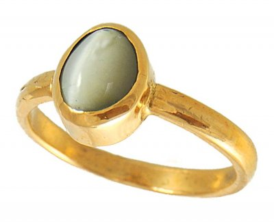 22K Catseye Ring ( Astrological BirthStone Rings )