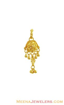 22K Gold Traditional Pendant ( Fancy Pendants )
