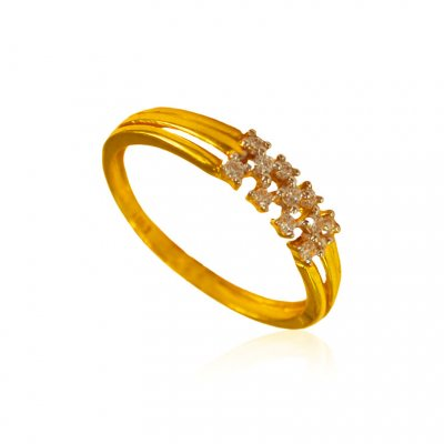 22kt Gold Signity Ring for ladies ( Ladies Signity Rings )