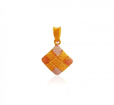 Three Tone Gold Pendant ( Fancy Pendants )