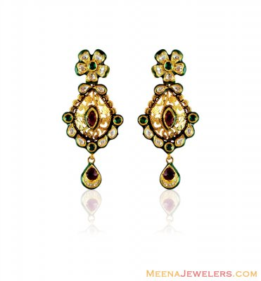 22k Gold Antique Earrings  ( 22Kt Gold Fancy Earrings )