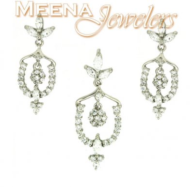 18Karat White Gold Pendant Set ( White Gold Pendant Sets )