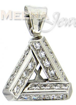 18 Kt White Gold Pendant ( Fancy Pendants )