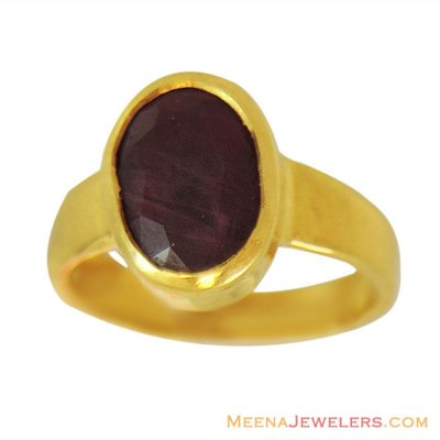 22K Gold Manik Ring (Ruby) ( Astrological BirthStone Rings )